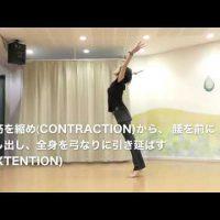 コンテンポラリーダンス コントラクションとエクステンション